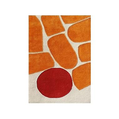 Alliyah Rugs New Zealand Handmade Sand Area Rug; 5' x 8'
