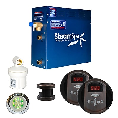 Steam Spa SteamSpa Royal 4.5 KW QuickStart Steam Bath Generator Package in Oil Rubbed Bronze