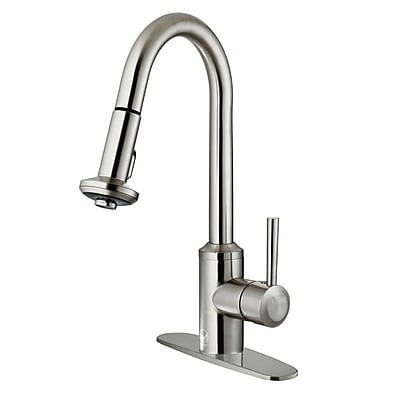 Vigo Astor Pull Out Single Handle Kitchen Faucet