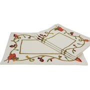 Xia Home Fashions Harvest Vine Crewel Embroidered Harvest Placemat (Set of 4)