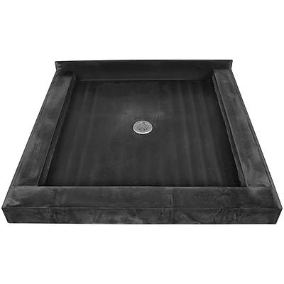 Tile Redi Muli Curb Shower Pan Triple Threshold Shower Base; 7''H x 32''W x 32''D