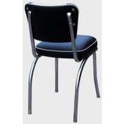 Richardson Seating Retro Home Side Chair; Black