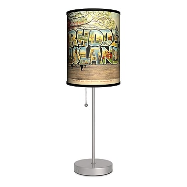Lamp-In-A-Box Travel Rhode Island Postcard 20'' Table Lamp
