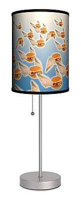 Lamp-In-A-Box Flying Hamburgers 20'' Table Lamp