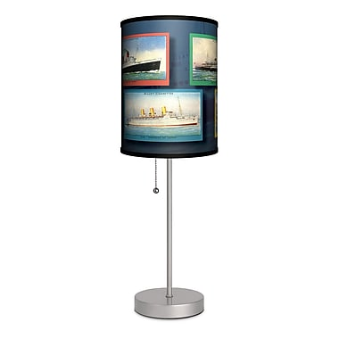 Lamp-In-A-Box Transportation Ships 20'' Table Lamp