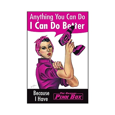 The Original Pink Box ''Anything You Can Do I Can Do Better'' Poster Vintage Advertisement