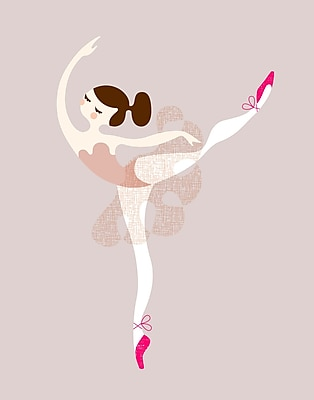 Evive Designs Ballerina Arabesque Paper Print