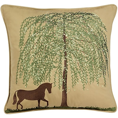 Rightside Design Abigail and Lily Equine Spring Willow Horse Indoor/Outdoor Sunbrella Throw Pillow