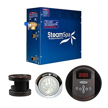 Steam Spa SteamSpa Indulgence 6 KW QuickStart Steam Bath Generator Package in Oil Rubbed Bronze