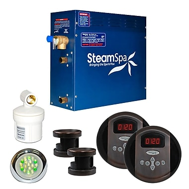Steam Spa SteamSpa Royal 12 KW QuickStart Steam Bath Generator Package in Oil Rubbed Bronze