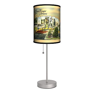 Lamp-In-A-Box Travel Maryland Postcard 20'' Table Lamp