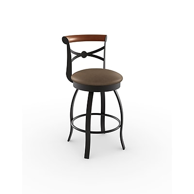Amisco Library Luxe Style 29.75'' Swivel Bar Stool
