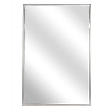 Bradley Corporation Fixed Angle Tilt-Frame Wall Mirror; 36'' H x 24'' W