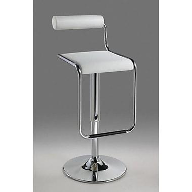 Creative Images International Adjustable Height Swivel Bar Stool; White