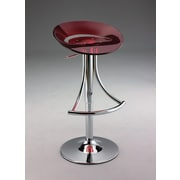 Creative Images International Adjustable Height Bar Stool; Red