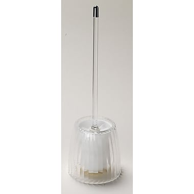 Carnation Home Fashions Acrylic Ribbed Free Standing Toilet Brush and Holder; Clear