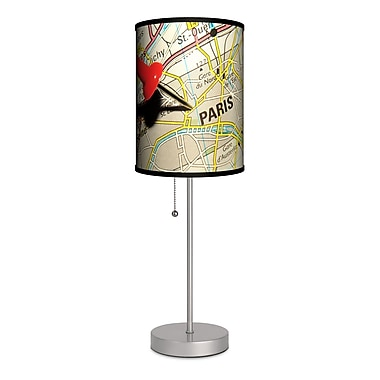 Lamp-In-A-Box Travel Pin Map Paris 20'' Table Lamp