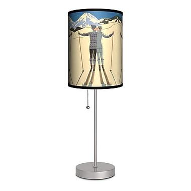 Lamp-In-A-Box Decor Art Ski Kiss 20'' Table Lamp