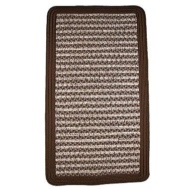 Thorndike Mills Town Crier Brown Indoor/Outdoor Rug; 2' x 3'