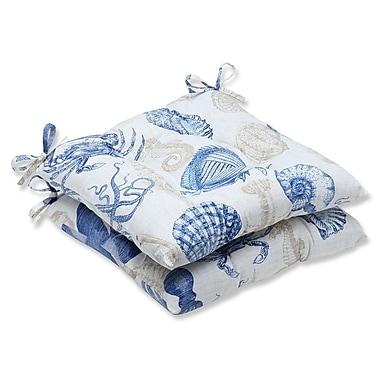 Pillow Perfect Sealife Outdoor Seat Cushion (Set of 2); Marine