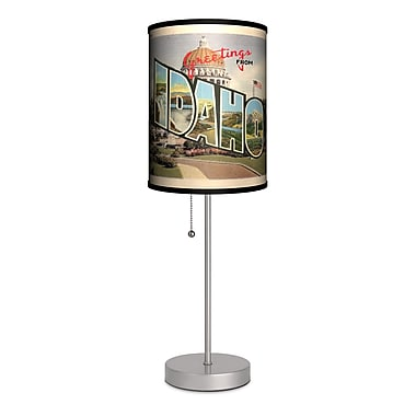 Lamp-In-A-Box Travel Idaho Postcard 20'' Table Lamp
