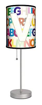 Lamp-In-A-Box Monograms Modern Letter 20'' Table Lamp; V