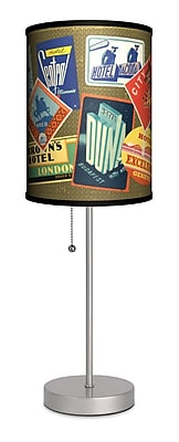 Lamp-In-A-Box Travel Hotel Labels 20'' Table Lamp