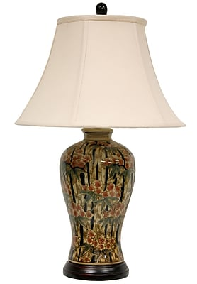 Oriental Furniture Bamboo Blossom 25'' Table Lamp