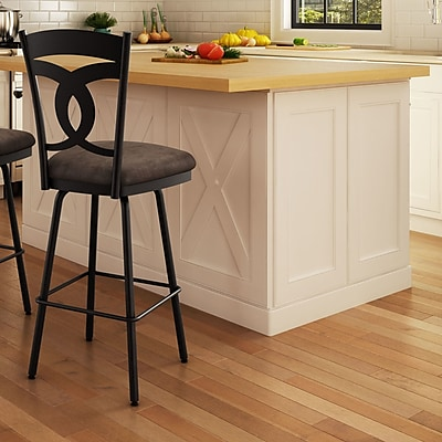Amisco Countryside Style 31.63'' Swivel Bar Stool