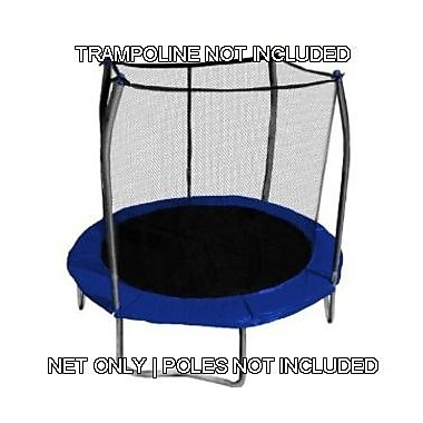 SKYBOUND 8' Round Trampoline Net Using 2-4 Arches