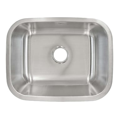 LessCare 23'' x 18'' Undermount Single Bowl Kitchen Sink