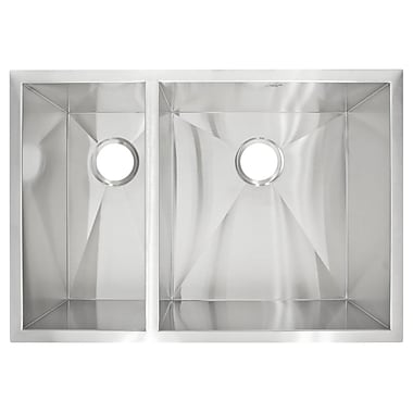 LessCare 29'' x 20'' Undermount Double Basin Kitchen Sink