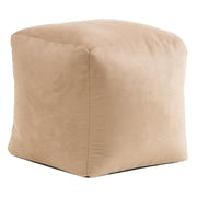 Home Loft Concepts Whitney Bean Bag Cube Ottoman; Tan