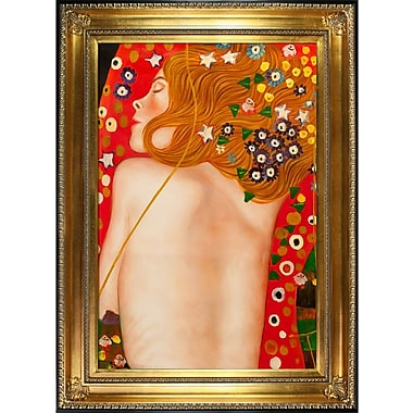 Tori Home Sea Serpents IV by Gustav Klimt Framed Painting