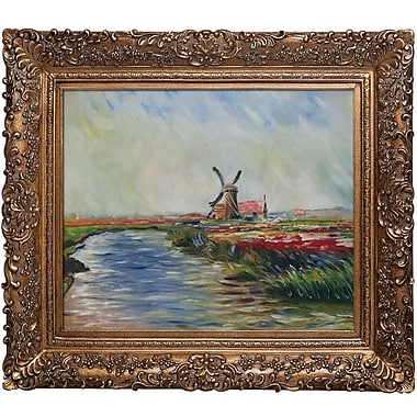 Tori Home Tulip Field in Hollandby Claude Monet Framed Painting