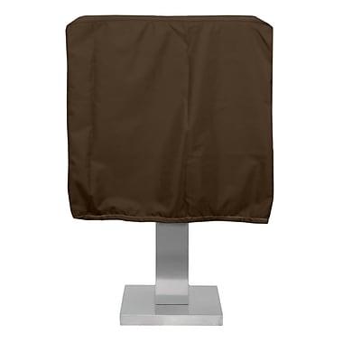 KoverRoos Weathermax Pedestal Barbecue Cover; Chocolate
