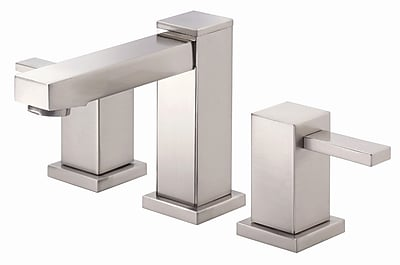 Danze Reef Widespread faucet Bathroom Faucet w/ Drain Assembly; Brushed Nickel