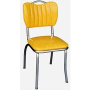 Richardson Seating Retro Home Side Chair; Cracked Ice Yellow