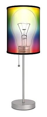 Lamp-In-A-Box Rainbow Bulb 20'' Table Lamp