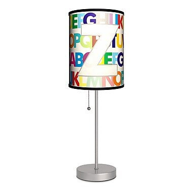 Lamp-In-A-Box Monograms Modern Letter 20'' Table Lamp; Z