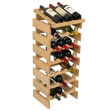Wooden Mallet Dakota 21 Bottle Floor Wine Rack; Unfinished