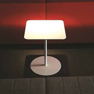 B&T Design Noa End Table; White