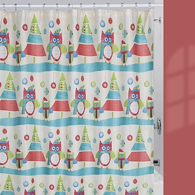 Creative Bath Holiday Owls Shower Curtain