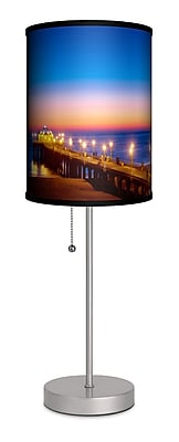 Lamp-In-A-Box Artist Sean Davey ''Manhattan Pier 3'' 20'' Table Lamp