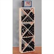 Wine Cellar Country Pine Solid 132 Bottle Floor Wine Rack