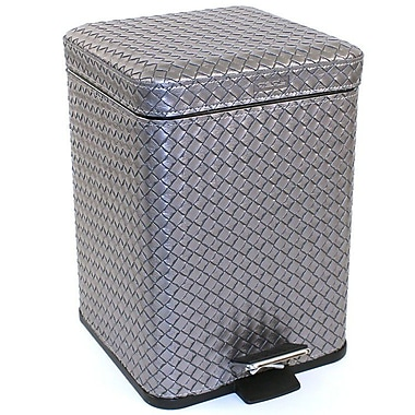 Gedy by Nameeks Marrakech Stainless Steel 1.32 Gallon Step On Trash Can; Silver
