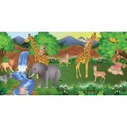 Mona Melisa Designs Giraffe Girl Hanging Wall Mural