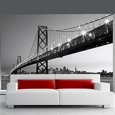 Brewster Home Fashions Ideal D cor San Francisco Skyline Wall Mural