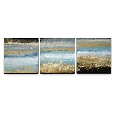 Artefx Decor Rising Tide Textured Triptych by Studio 212 3 Piece Painting Print on Canvas Set