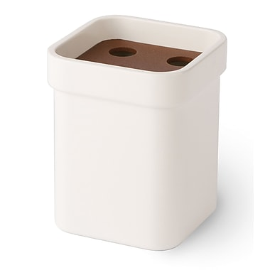 WS Bath Collections Curva Toothbrush Holder; Brown
